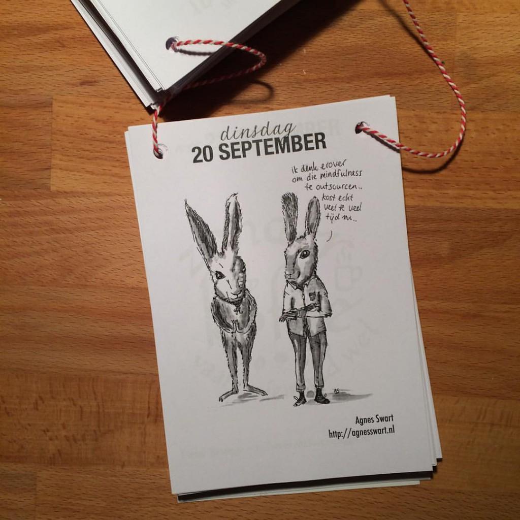 zelfgemaakte scheurkalender