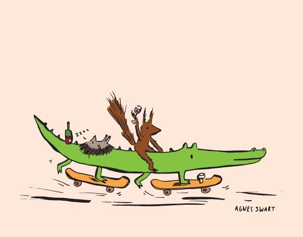 De eekhoorn en de krokodil